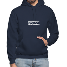 Load image into Gallery viewer, styled. Unisex Hoodie - navy