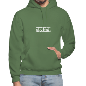 styled. Unisex Hoodie - military green