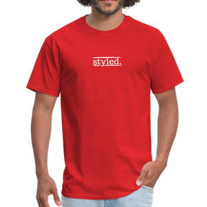 styled. unisex short sleeve tee - red