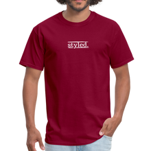 Load image into Gallery viewer, styled. unisex short sleeve tee - burgundy