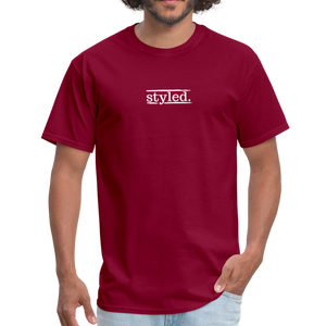 styled. unisex short sleeve tee - burgundy