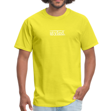 Load image into Gallery viewer, styled. unisex short sleeve tee - yellow