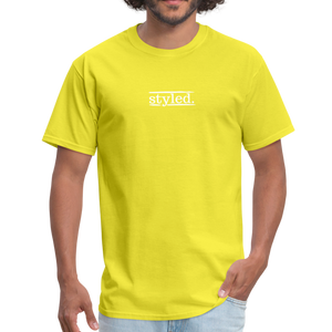 styled. unisex short sleeve tee - yellow