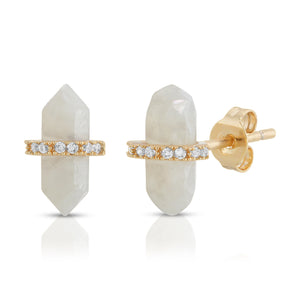 Noveau | Earrings - Milky Quartz