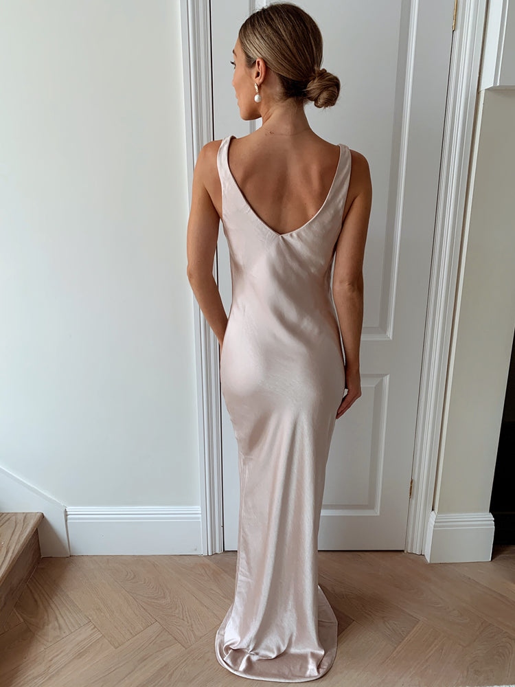 Load image into Gallery viewer, Piper High Back | Maxi Dress - Matte Blush