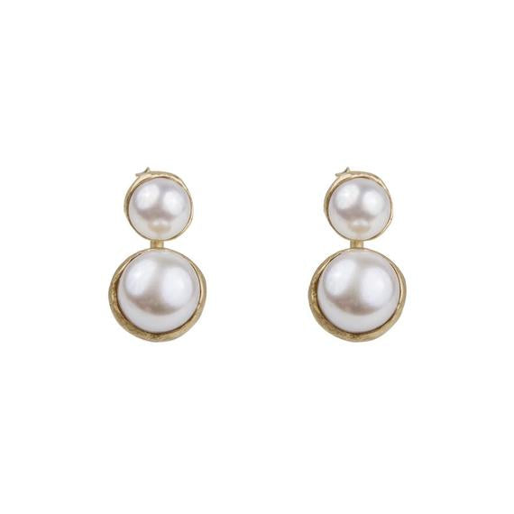 Load image into Gallery viewer, Double Pearl | Earrings