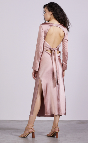 Load image into Gallery viewer, Tie Back Maxi Dress | Blush