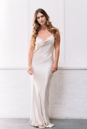 Keisha | Maxi Dress - Matte Oyster