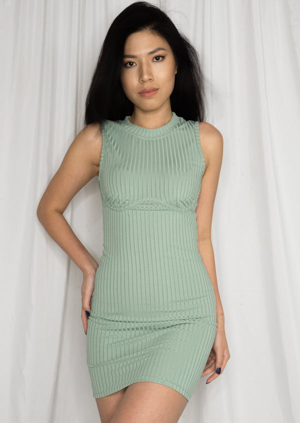 Penney Mini Dress Green - MYPHEME