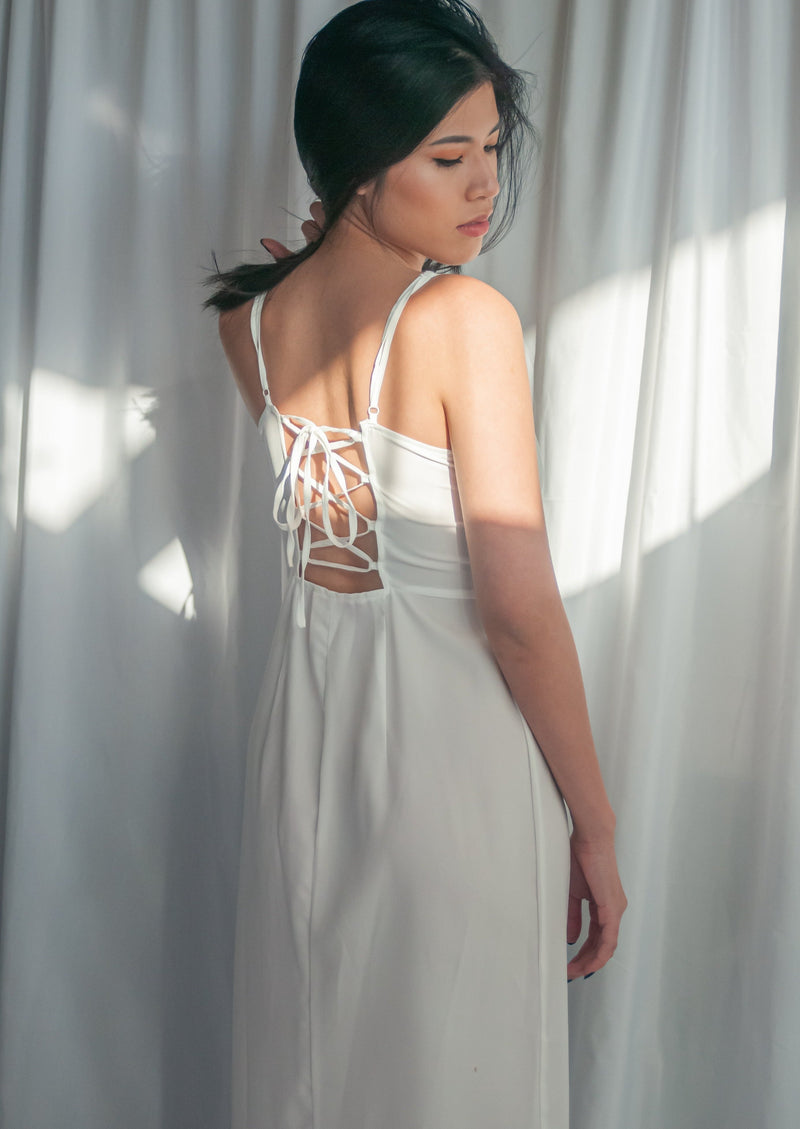 White A Line Dress - MYPHEME