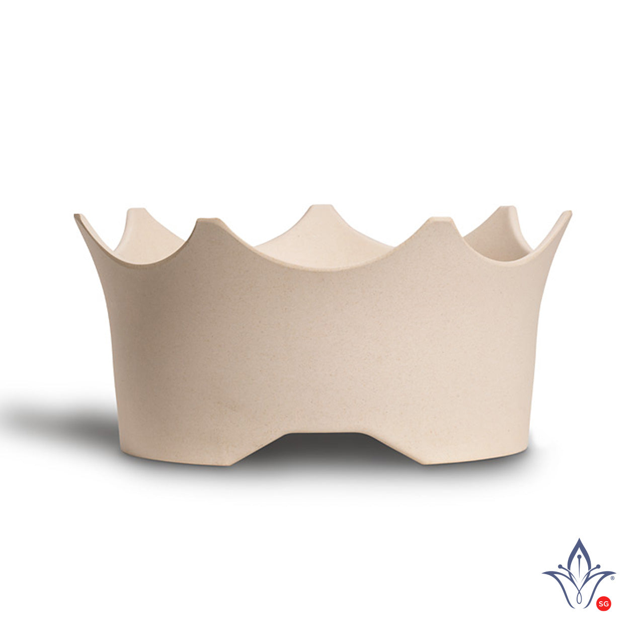 Crown Juwel Pet Bowl- Natural White