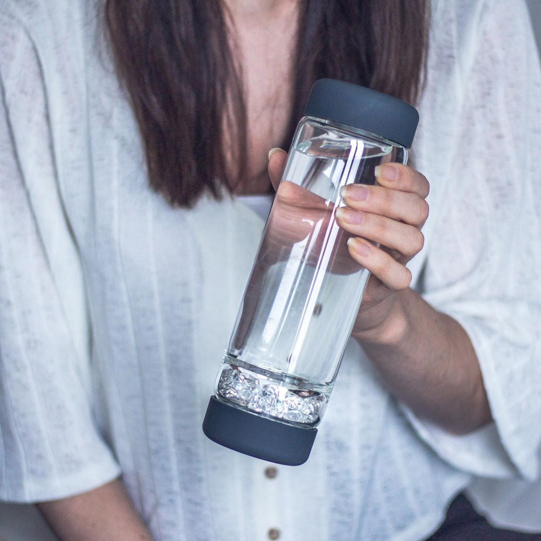 inu! Crystal Water Bottle - Lava Grey
