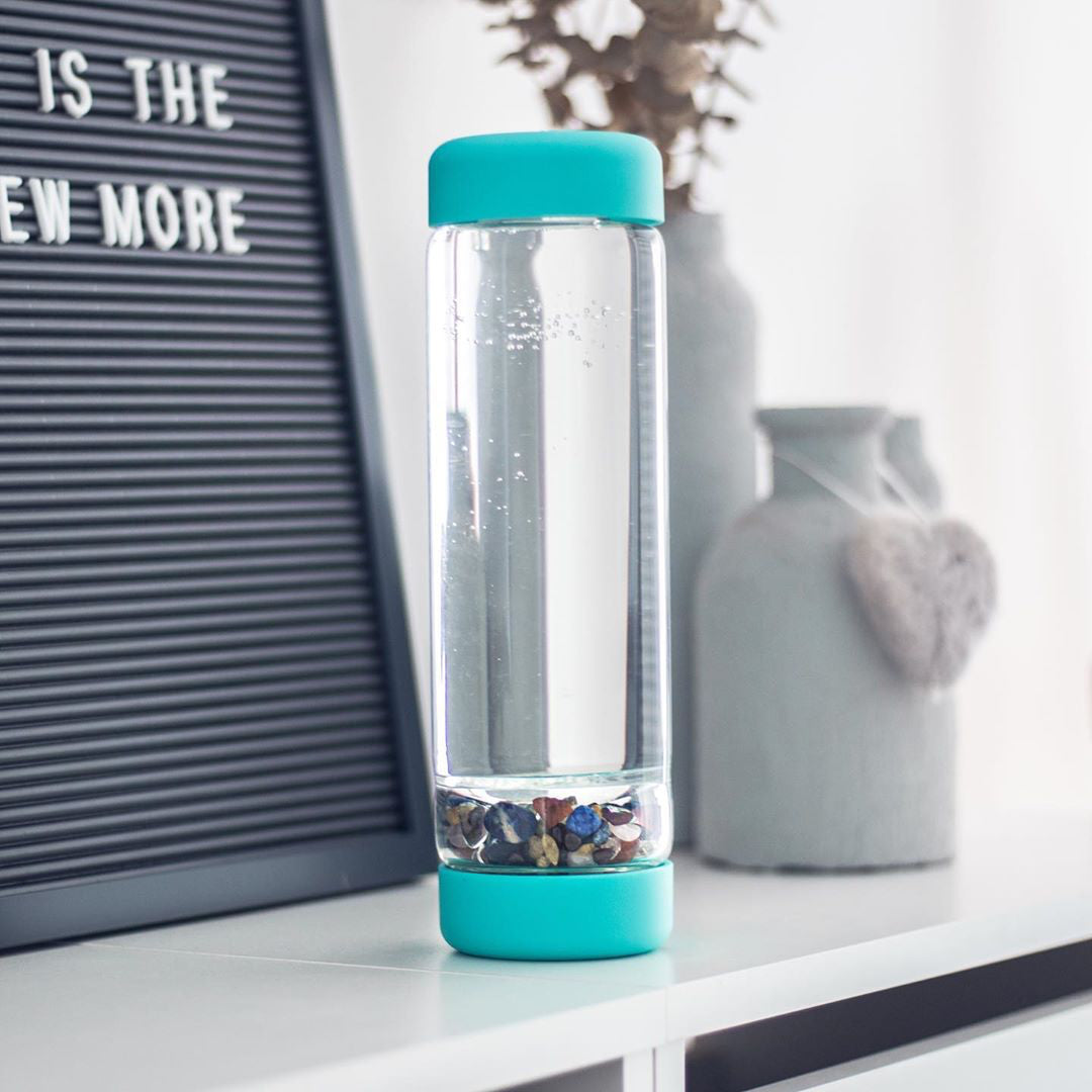 inu! Crystal Water Bottle - Ocean Blue