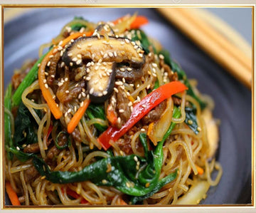 Glass Noodles With Sauteed Vegetable (Jap-Chae)