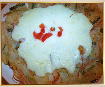 Cheese Seafood And Green Onion Pancake