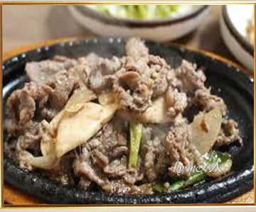 Beef On Hot Iron Plate (Inclusive of rice)