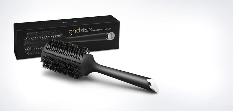ghd natural bristle radial brush size 3 (44mm barrel)