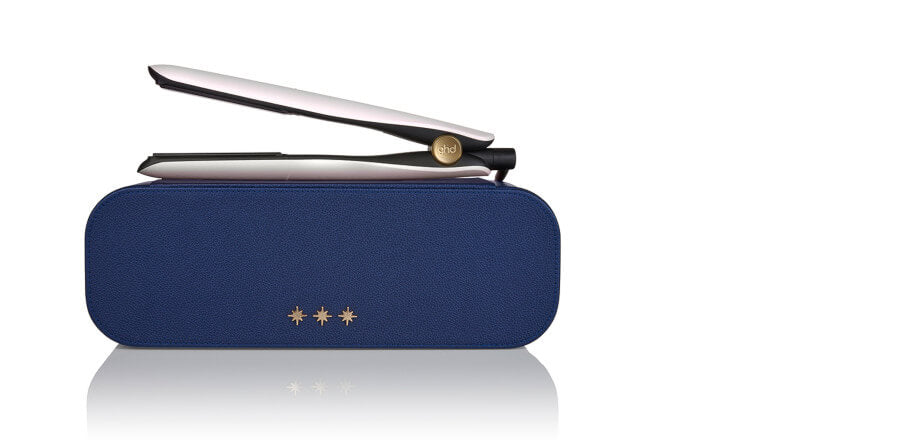 ghd gold® hair straightener in iridescent white gift set.