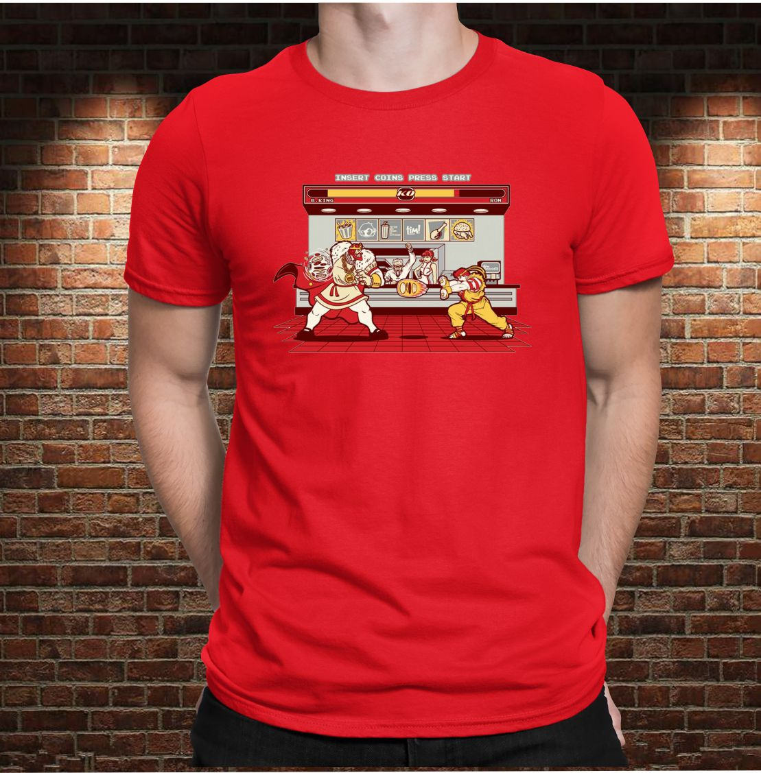 CAMISETA KING VS RONALD FIGHT!