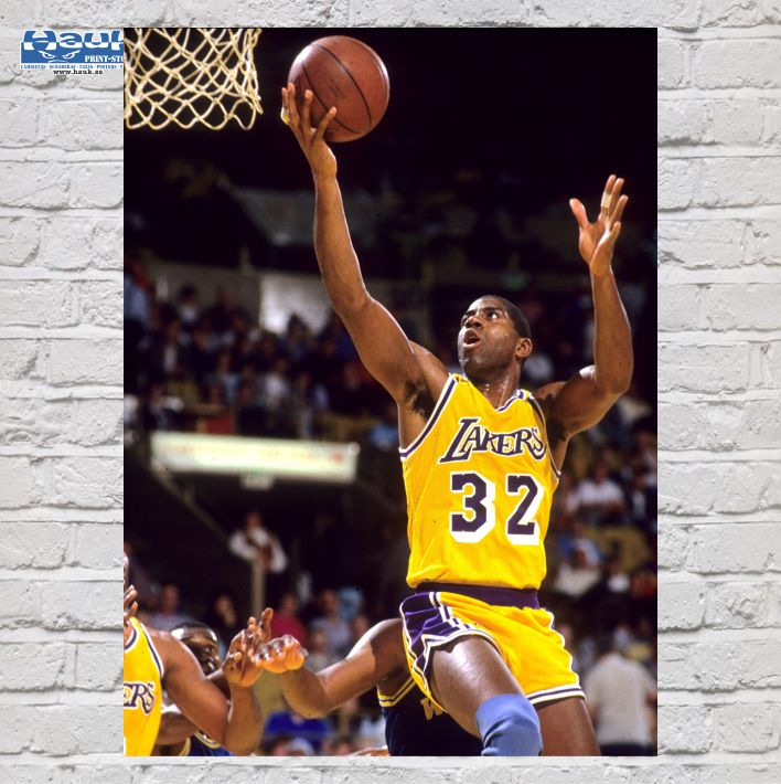 PÓSTER MAGIC JOHNSON LAKERS
