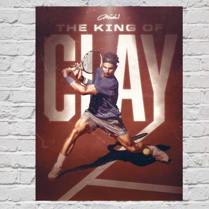 Copia de PÓSTER RAFA NADAL KING OF CLAY