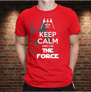 CAMISETA KEEP CALM AND USE THE FORCE