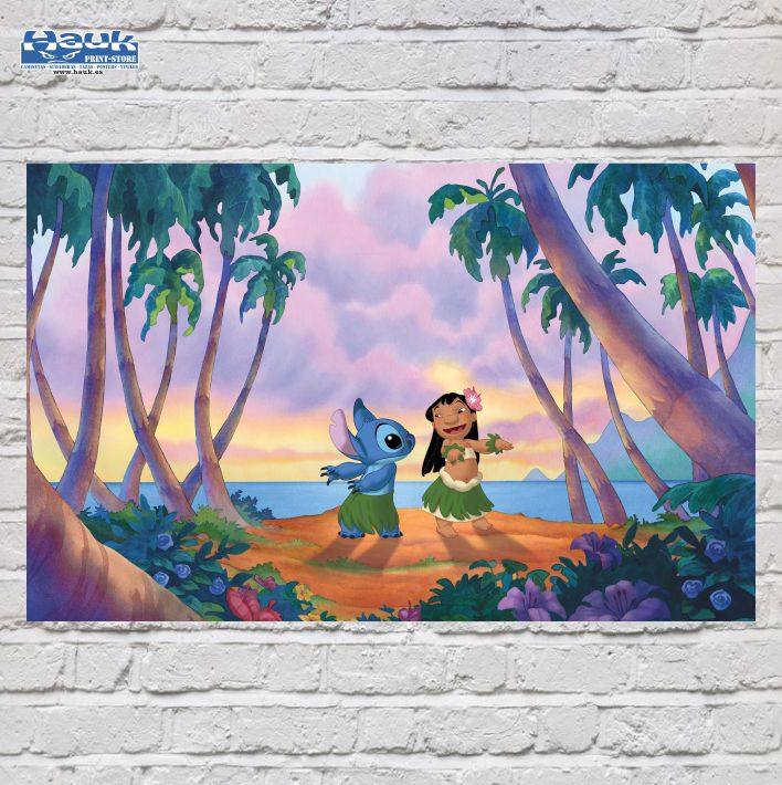 PÓSTER LILO & STITCH BEACH