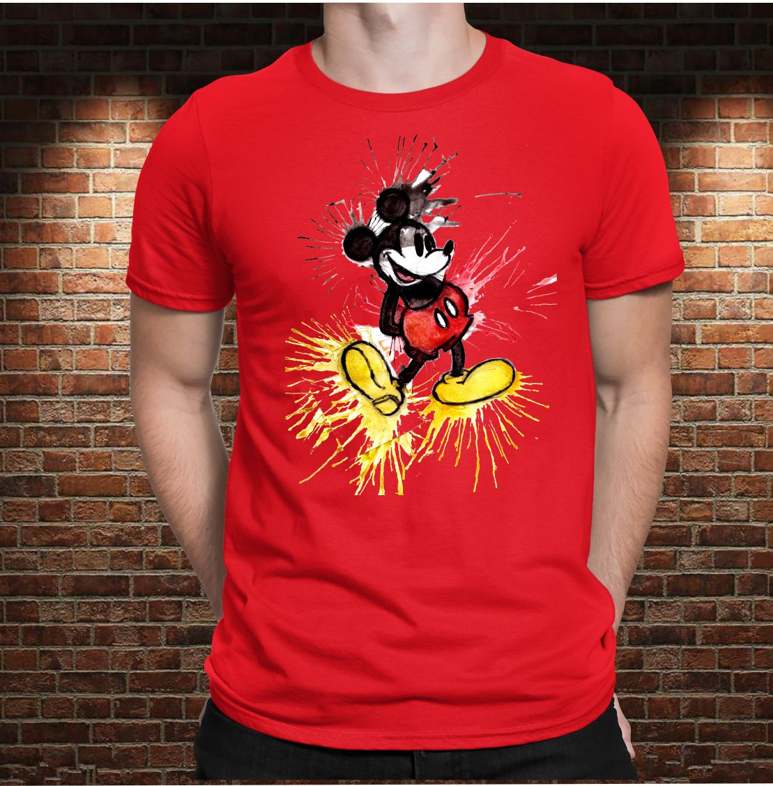 CAMISETA MICKEY VINTAGE COLOR