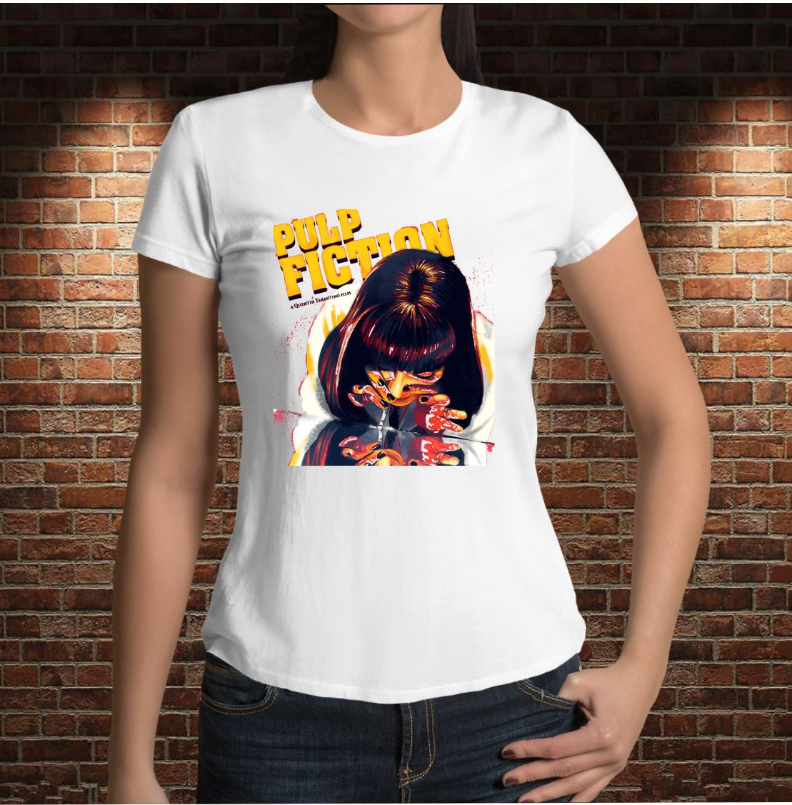 CAMISETA PULP FICTION. UMA THURMAN.