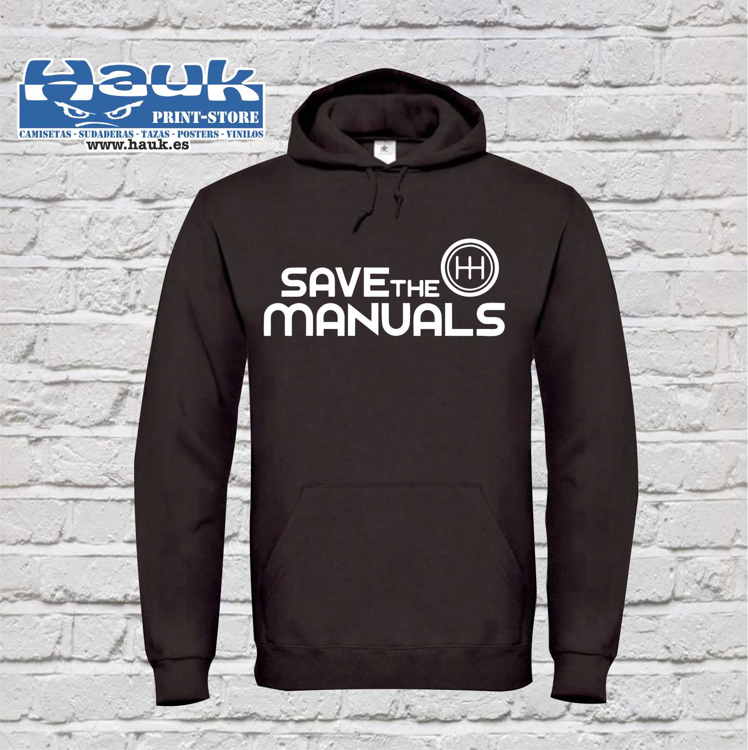 SUDADERA SAVE THE MANUALS