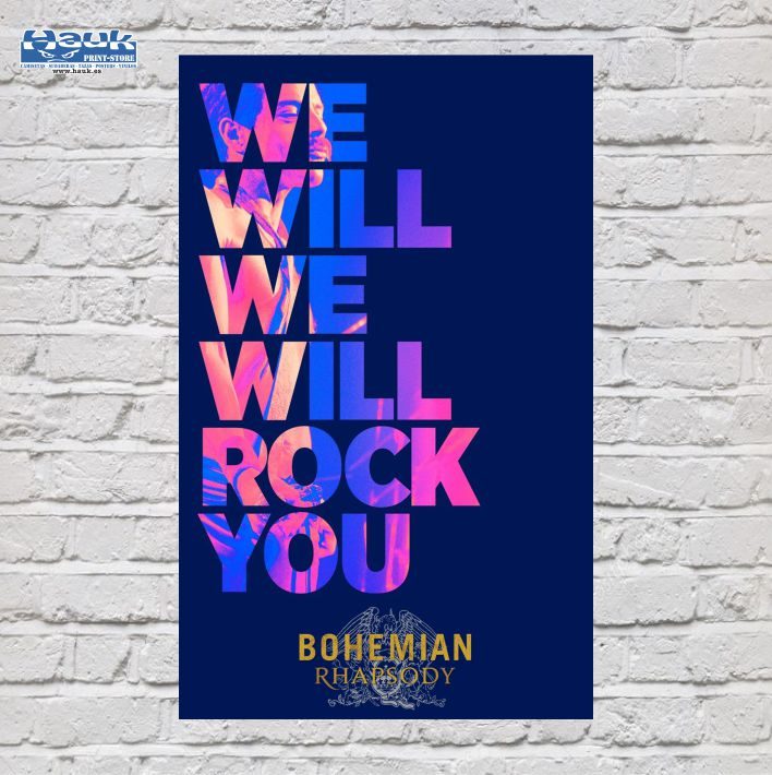 PÓSTER WE WILL ROCK YOU