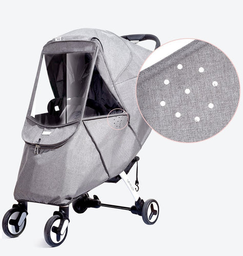 Baby Stroller Rain Cover Universal Wind Dust Weather Shield with Windows