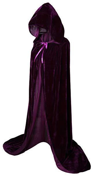 Christmas Halloween Cosplay Costume  Witch Knight Hooded Cloak