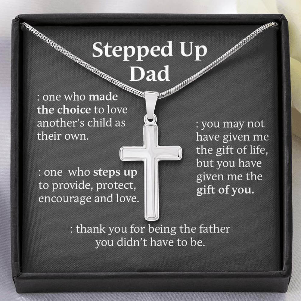 Cross Necklace for Stepped Up Dad- SO101A