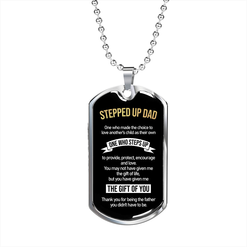 Luxury Dog Tag For Stepped Up Dad - SO05