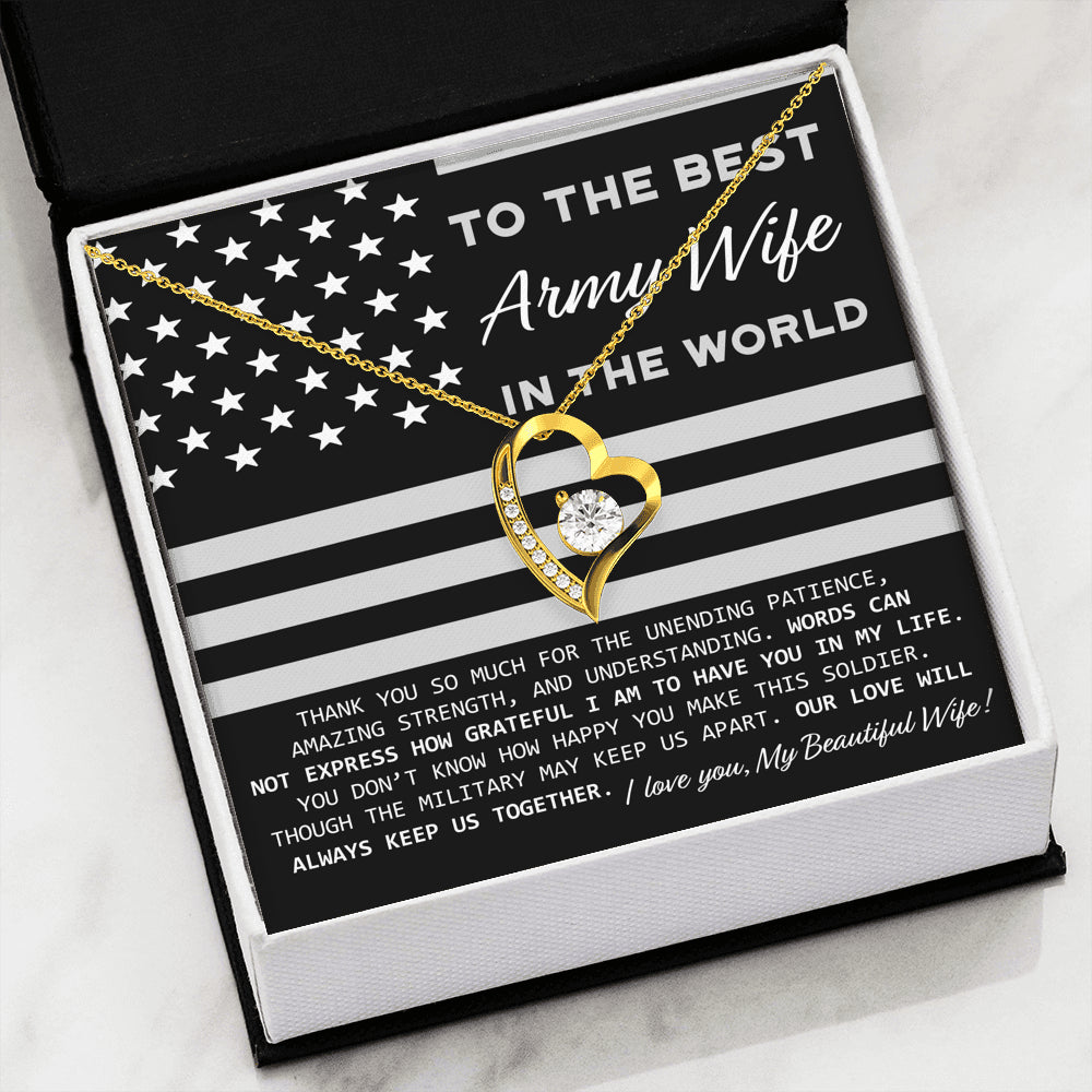 To The Best Army Wife In The World Necklace