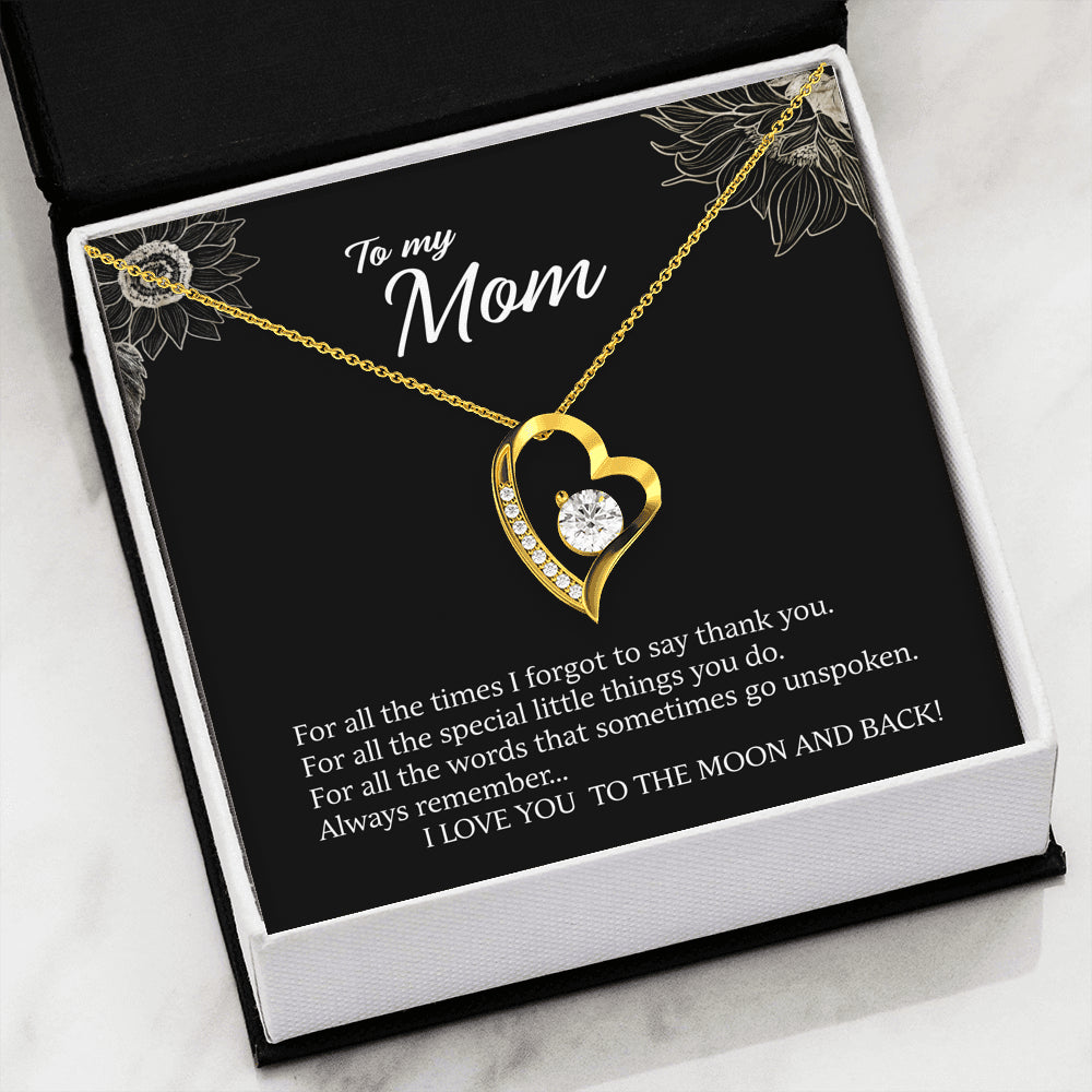 I love you to the moon and back - forever necklace for mom