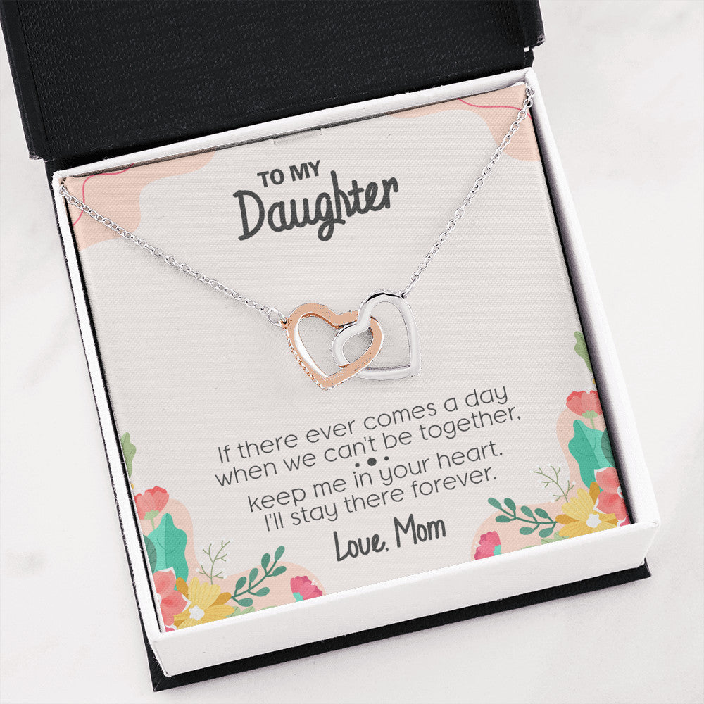 Interlocking Hearts Necklace For Daughter - SO121
