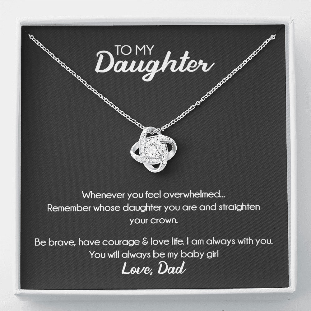 Love Knot Necklace For Daughter From Dad - SO172