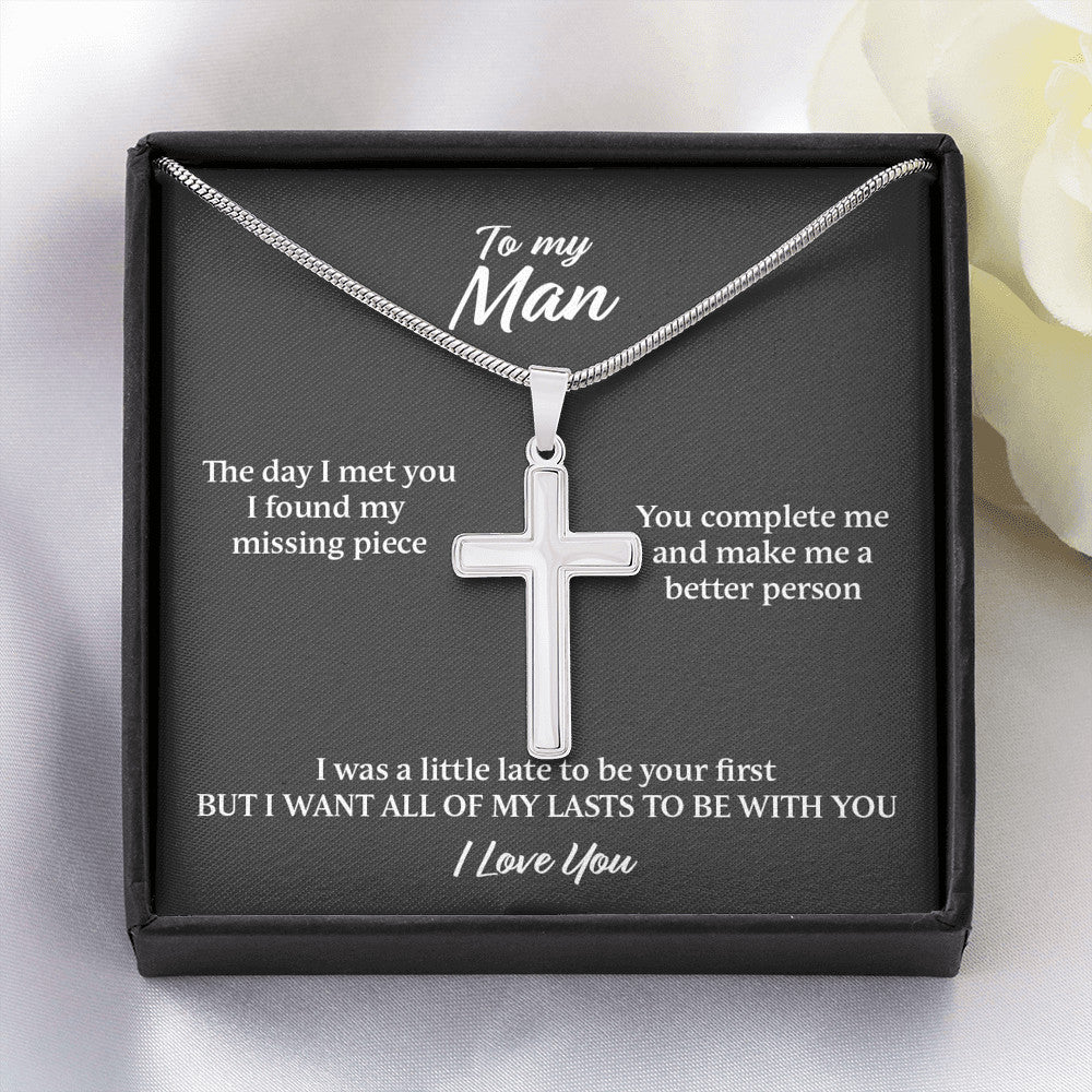 Cross Necklace Gift For My Man - SO179