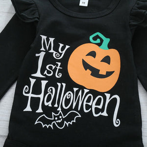 "4 Pcs Halloween Pumpkin Bat Clothes for 20""-22"" Reborn Baby"