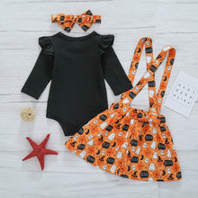 "Laden Sie das Bild in den Galerie-Viewer, 4 Pcs Halloween Pumpkin Bat Clothes for 20""-22"" Reborn Baby"