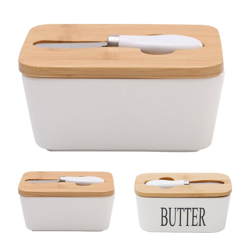 Butter Box With Wood Lid Tool