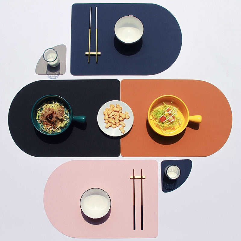 Tableware Leather Placemat Set