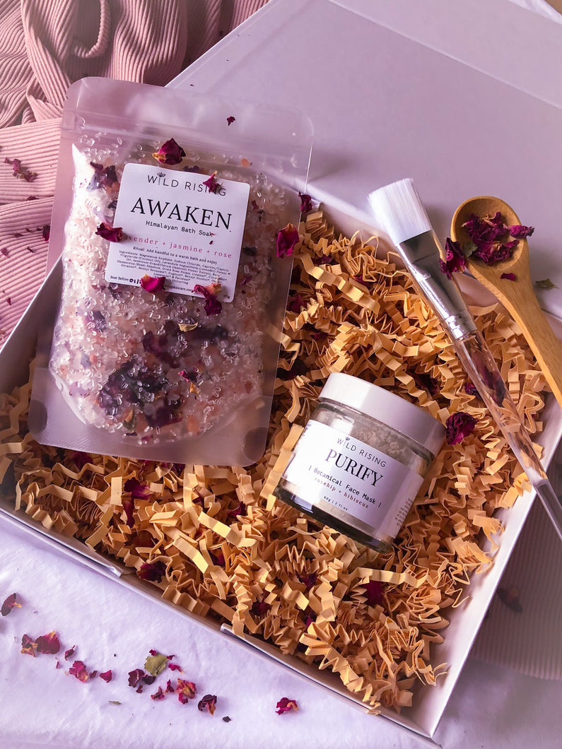 natural skincare giftbox