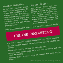Laden Sie das Bild in den Galerie-Viewer, Online Marketing - Sales-up-Call - Stephan Heinrich
