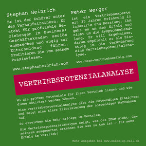 Vertriebspotenzialanalyse - Sales-up-Call - Stephan Heinrich