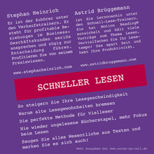 Laden Sie das Bild in den Galerie-Viewer, Schneller Lesen - Sales-up-Call - Stephan Heinrich