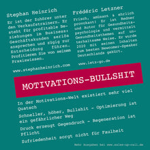 Laden Sie das Bild in den Galerie-Viewer, Motivations-Bullshit - Sales-up-Call - Stephan Heinrich