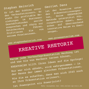 Kreative Rhetorik - Sales-up-Call - Stephan Heinrich